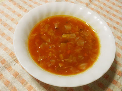 サツマイモとコンソメ3種のスープ